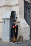 Protetor suíço em Vatican Imagens de Stock