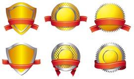 Protetores - amarelo Fotografia de Stock