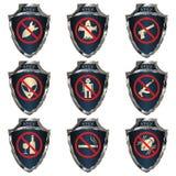 Protetores de aço ilustração royalty free
