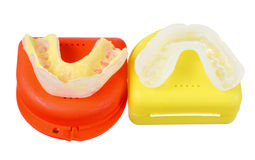 Protetores de boca Fotografia de Stock Royalty Free