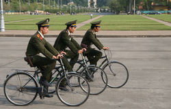 Protetores de ciclagem vietnamianos Foto de Stock