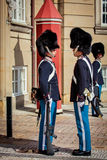 Protetores de honra em Copenhaga Foto de Stock
