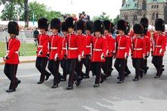 Protetores de honra no dia de Canadá Imagens de Stock Royalty Free