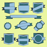 Protetores do emblema e coleção modernos da etiqueta ilustração stock