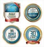 Protetores dourados e etiquetas da qualidade superior Imagem de Stock Royalty Free