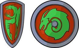 Protetores e dragões ilustração stock