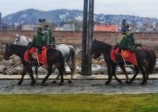 Protetores em cavalos imagem de stock royalty free