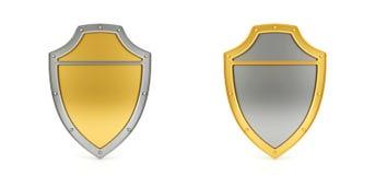 Protetores isolados no fundo branco Imagens de Stock