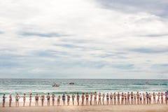 Protetores na praia Austrália fotografia de stock
