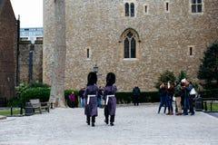 Protetores na torre de Londres Imagem de Stock Royalty Free