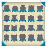 Protetores pretos do vetor ajustados. ilustração royalty free