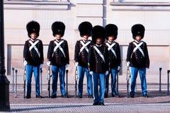 Protetores reais durante a cerimônia de mudar os protetores no s Foto de Stock Royalty Free