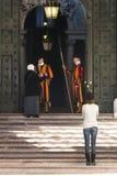 Protetores suíços de Cidade Estado do Vaticano Fotografia de Stock