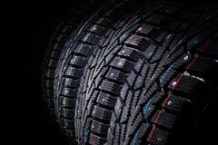 Protettore delle gomme di automobile Una serie di gomme di automobile Fotografia Stock Libera da Diritti