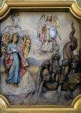 Protettore di Michael di arcangelo della donna apocalittica Fotografie Stock Libere da Diritti
