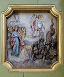 Protettore di Michael di arcangelo della donna apocalittica Immagine Stock