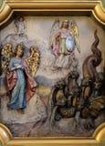 Protettore di Michael di arcangelo della donna apocalittica Immagini Stock