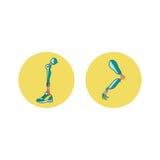 Protetycznych kończyn mieszkania ikony Nowożytnego Exoskeleton Protetyczny mechanizm Cyber prosthesis Zdjęcia Royalty Free