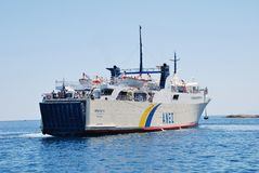 Proteus ferry, Alonissos island Royalty Free Stock Photography