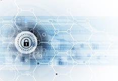 Protezione cyber di sicurezza e di informazioni o della rete Futuro tecnico illustrazione di stock