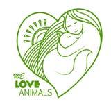 Protezione degli animali Amiamo gli animali Fotografie Stock Libere da Diritti