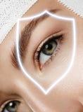 Protezione degli occhi Fotografia Stock