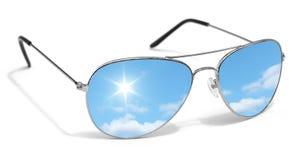 Protezione degli occhi degli occhiali da sole di Sun Fotografie Stock Libere da Diritti