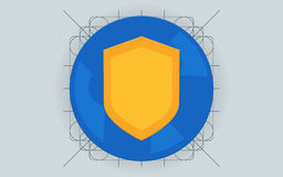 Protezione dei dati, concetti piani dell'illustrazione di sicurezza di Internet Immagine Stock