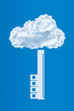 Protezione dei dati, concetto di calcolo di sicurezza della nuvola Fotografia Stock Libera da Diritti