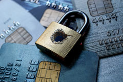 Protezione dei dati della carta di credito fotografie stock libere da diritti