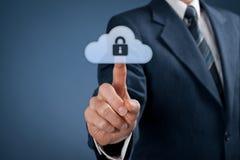 Protezione dei dati della nuvola Fotografie Stock Libere da Diritti
