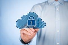Protezione dei dati di calcolo della nuvola Immagini Stock