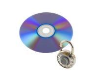 Protezione dei dati di Digitahi isolata su bianco Fotografia Stock Libera da Diritti