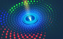 Protezione dei dati di Digital Sicurezza di Internet nella rete globale Cyberspace di concetto del futuro illustrazione vettoriale