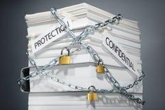 Protezione dei dati Documenti protetti Informazioni confidenziali Immagini Stock