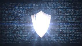 Protezione dei dati personali Schermo di protezione della rete Fotografia Stock