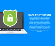 Protezione dei dati, segretezza e sicurezza di Internet Illustrazione di vettore illustrazione vettoriale