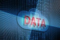 Protezione dei dati sul concetto della nuvola Illustrazione di Stock