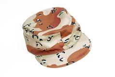 Protezione del cappello di combattimento del camuffamento Fotografie Stock