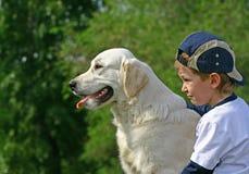 protezione del ragazzo Fotografie Stock
