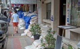 Protezione del sacchetto di sabbia Fotografia Stock Libera da Diritti