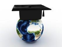 Protezione del supervisore per i laureati nel globo. 3D Immagine Stock Libera da Diritti