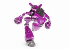 Protezione del virus di intelligenza artificiale del robot Immagine Stock