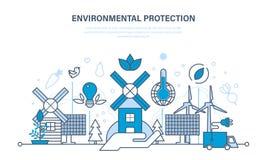 Protezione dell'ambiente, uso dei prodotti puliti naturali e risorse royalty illustrazione gratis