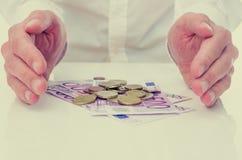 Protezione dell'euro Fotografie Stock Libere da Diritti
