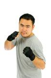 Protezione dell'uomo nel combattimento del corpo Fotografia Stock