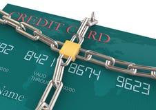 Protezione della carta di credito Fotografie Stock
