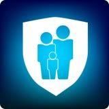 Protezione della famiglia Immagini Stock