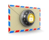 Protezione della lettera (percorso di ritaglio incluso) Immagine Stock