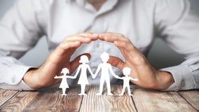 Protezione della mia famiglia fotografie stock